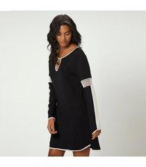 camisola joge curta preto - preto - feminino - dafiti