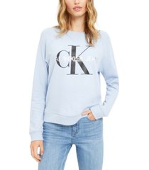 calvin klein jeans french terry logo sweatshirt