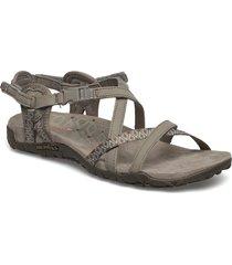 terran lattice ii taupe shoes summer shoes flat sandals beige merrell