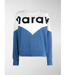 isabel marant étoile houston colour-block logo sweatshirt