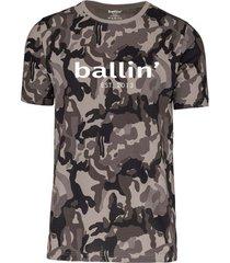 t-shirt korte mouw ballin est. 2013 grijs camouflage shirt