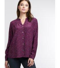 zijden blouse met bloemenprint