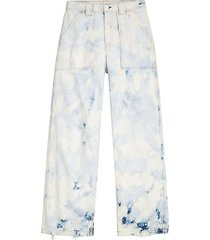skater ultra high-rise tie-dye straight jeans