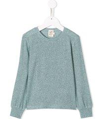 caffe' d'orzo lurex knit sweater - blue