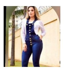 macacáo jardineira longa jeans escuro