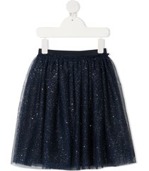 il gufo glittery skirt in blue tulle