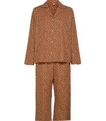 aiyana pyjamas set pyjamas brun becksöndergaard