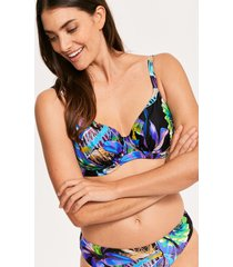 paradise bay tropical underwire non padded full cup bikini top