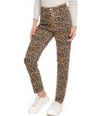 pantalón even&odd animal print multicolor - calce ajustado