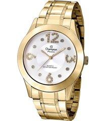 relógio champion dourado - cn29178h