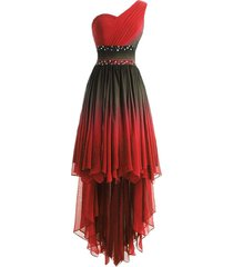 lemai high low beaded prom homecoming cocktail dresses black gradient red plus s