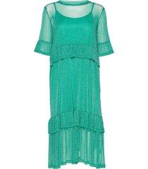 ananda dress maxi dress galajurk blauw résumé