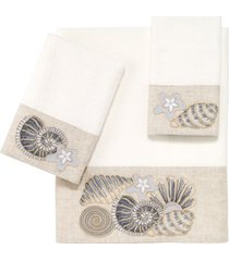 avanti shell collection embroidered hand towel bedding
