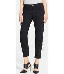 women's frame denim 'le garcon' boyfriend jeans, size 23 - black