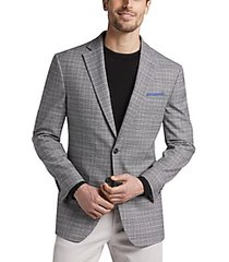 awearness kenneth cole gray plaid slim fit sport coat