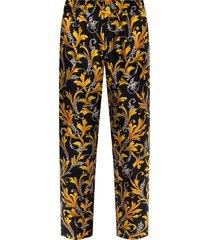 -barocco bedrukte zijden broek