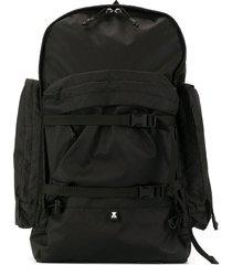 makavelic cargo pocket backpack - black