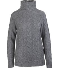 s max mara dark grey hazel turtleneck pullover