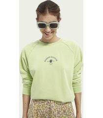 scotch & soda graphic raglan sleeved sweater