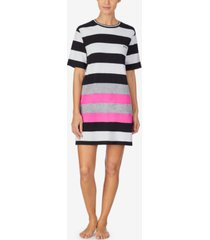 dkny women's striped sleep shirt nightgown
