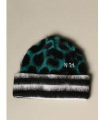 n° 21 hat n ° 21 hat in animalier wool and mohair