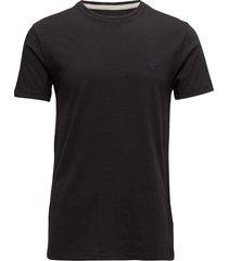 ss dun-river crew t t-shirts short-sleeved svart timberland