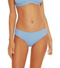 women's becca fine line american bikini bottoms, size x-large - blue