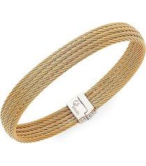 alor women's 18k gold & stainless steel multi-row bracelet