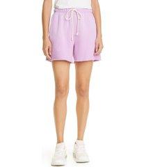 women's re/done '80s sweat shorts, size x-small - purple