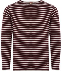 armor lux long sleeved mariniere heritage t-shirt  02297-adl