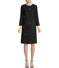 lafayette 148 new york women's giovanetta embellished dress - black - size xs