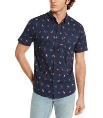 levi's men's island print shirt