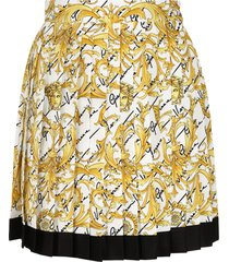 versace silk pleated skirt