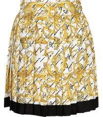versace silk pleated skirt