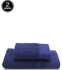 jogo de banho 2 pçs buddemeyer london azul 70 x 135