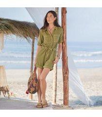 sundance catalog women's monroe jumpsuit - petites in cedar petite 2xs