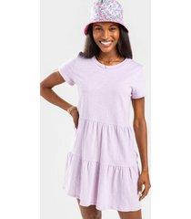 leslie tiered babydoll dress - lavender