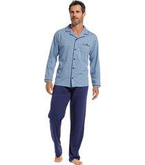 heren doorknoop pyjama pastunette 23211-614-6-m/50