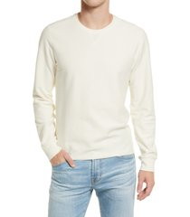 men's billy reid cotton & linen sweatshirt, size xx-large - white