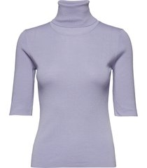 merino elbow sleeve top t-shirts & tops knitted t-shirts/tops paars filippa k