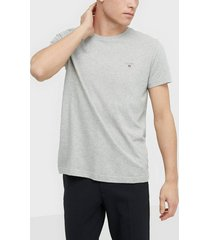 gant the original ss t-shirt t-shirts & linnen light grey melange