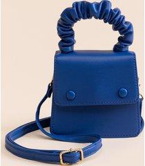 women's aubrie mini scrunchie top handle satchel in pink by francesca's - size: one size