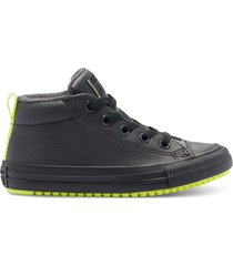 converse botas chuck taylor all star street leather & reflective