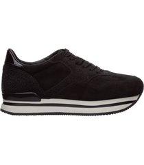scarpe sneakers donna camoscio h222