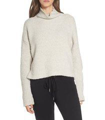 women's ugg sage cowl neck pullover, size small - beige