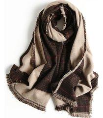 mens generoso lattice tassel winter warm scarves sciarpa antivento di alta qualità