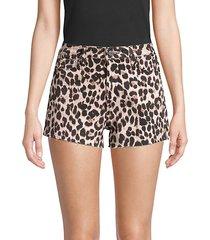 margot leopard jean shorts
