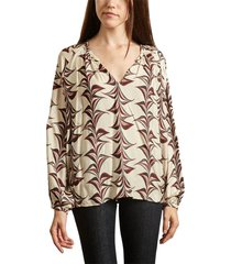chicana printed blouse