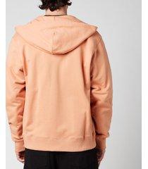 kenzo men's tiger crest zip hoodie - cognac - xxl