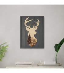 drewniany obraz - noble stag
